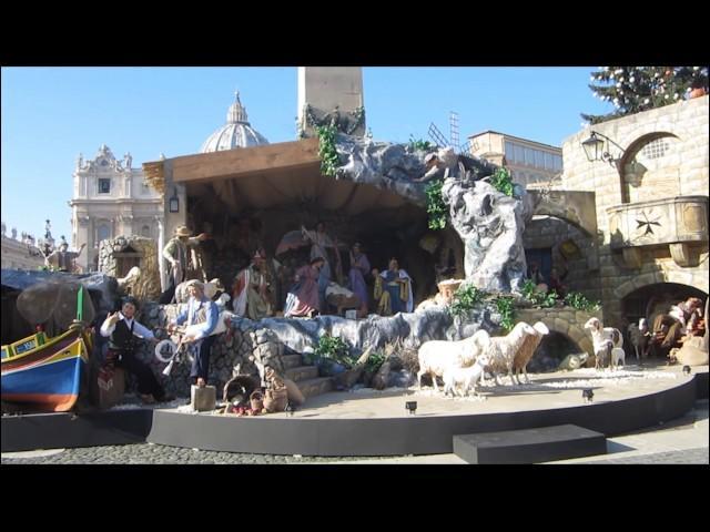 Hang đá Giáng Sinh tại Quảng trường Thánh Phêrô 8/12/2016
