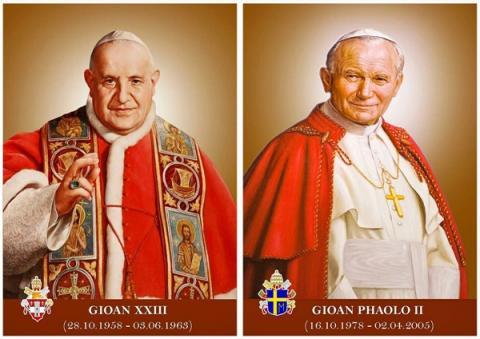 Lễ Phong Thánh cho hai vị Giáo hoàng Gioan XXIII và Gioan Phaolô II